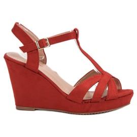 SHELOVET Suede Sandaler röd