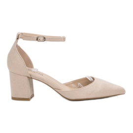 Queen Vivi brun Suede Pumps I Spitz