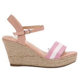 Primavera rosa Casual wedge sandaler