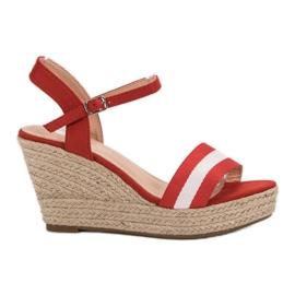 Primavera Casual wedge sandaler röd