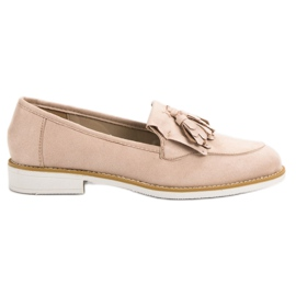 Brun VICES beige moccasins