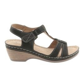 Bekväma kvinnors sandaler DK svart