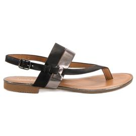 Small Swan svart Japanska sandaler