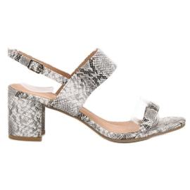Ideal Shoes grå Fashionabla kvinnors sandaler
