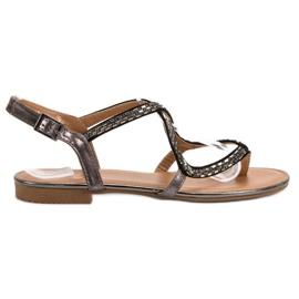 Small Swan Japanska sandaler grå