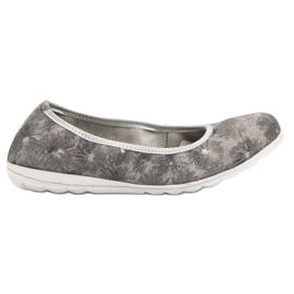 Filippo Läderballerinas grå