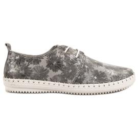 Filippo grå Bundet läderskor