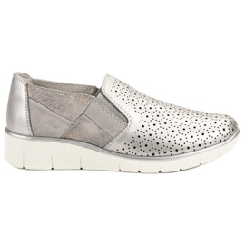 Filippo grå Silver Slip On skor