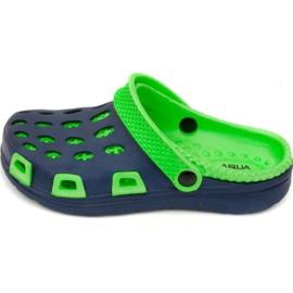Aqua-speed tofflor Silvi Jr col 48 grön marinblå