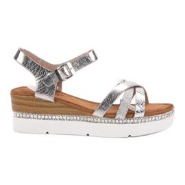 Seastar grå Snygga sandaler med zirkoner