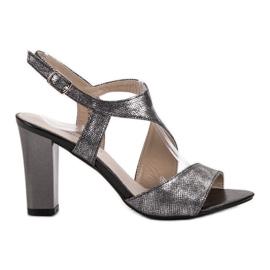 Goodin grå Silver Sandaler