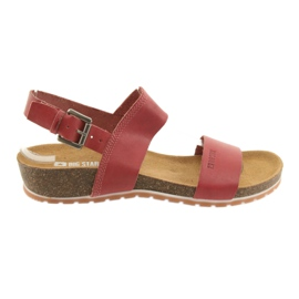 Big Star Röda Stora kvinnors sandaler 274A016