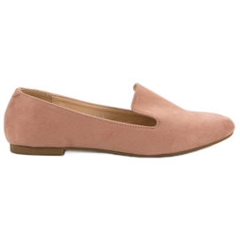 Lily Shoes Suede Lords rosa