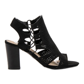 Goodin Fashionabla svarta sandaler
