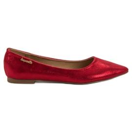 Super Me röd Glänsande Ballerina