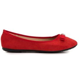 GUAPISSIMA röd Ballerina med brokade