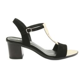 Sandaler för kvinnor Anabelle 1447 svart / guld
