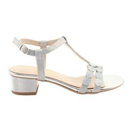Kvinnors sandaler band Gamis 3661 grå pärla