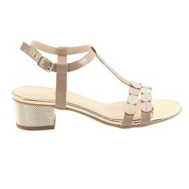 Kvinnors sandaler band Gamis 3661 beige