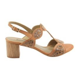 Kvinnors sandalerkaramell / panther Anabelle 1352 brun