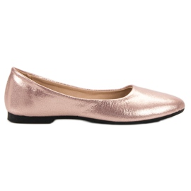 SHELOVET rosa Shiny Rose Gold Ballerinas