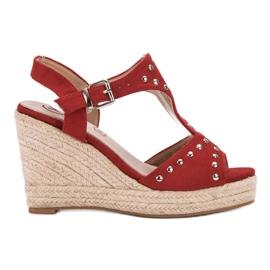 Kylie röd Sandaler med strålar