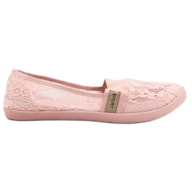 SHELOVET rosa Lace Ballerinas
