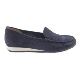 Marinblå Loafers Caprice 24211
