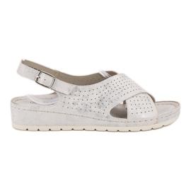 Goodin Sandaler på plattformen vit
