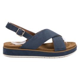 Goodin blå Suede Sandaler