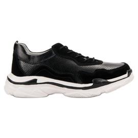 Goodin Svart Läder Sneakers