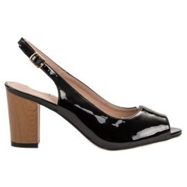 Goodin svart Lacquered Women's Sandals