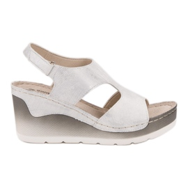 Goodin Bekväma Wedge Sandals vit