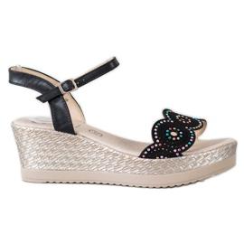 Kylie svart Casual Sandals