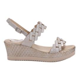 Aclys grå Lätta sandaler på kil