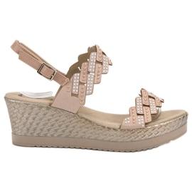 Aclys brun Lätta sandaler i hälar