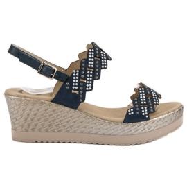 Aclys blå Lätta sandaler på kil
