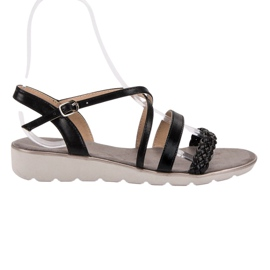 Kylie Svarta sandaler på plattformen