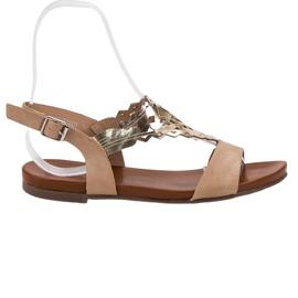 Kylie brun Snygga platta sandaler