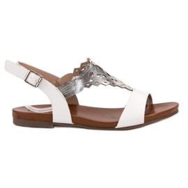 Kylie vit Snygga platta sandaler