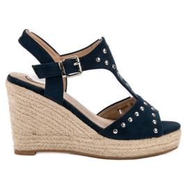 Kylie marinblå Sandaler med strålar