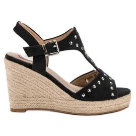 Kylie svart Sandaler med strålar