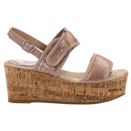 Kylie rosa Sandaler med kardborreband