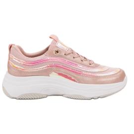 SHELOVET Sneakers On Platform rosa