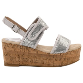 Kylie grå Sandaler med kardborreband