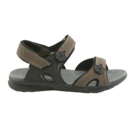 American Club American Youth Sports Sandals HL09 svart / khaki