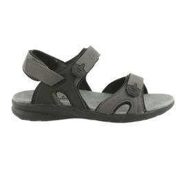 American Club American HL09 svart / grå sport sandaler