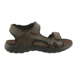 American Club Amerikanska läder sport sandaler CY11 brun
