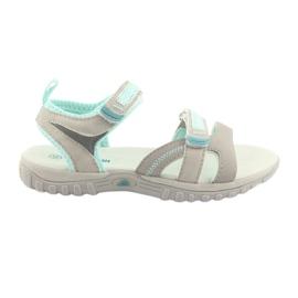 Flickor sandaler American Club HL14 grå / mint