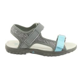 Sandaler med läderinsats American Club RL10 grå / blå